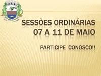Convite: Sessões Ordinárias