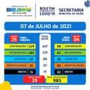Covid-19 Boletim de 07.07.2021