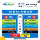 Covid-19 Boletim de 09.07.2021
