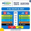 Covid-19 Boletim de 11.07.2021