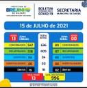 Covid-19 Boletim de 15.07.2021