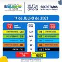 Covid-19 Boletim de 17.07.2021
