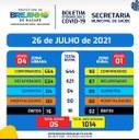 Covid-19 Boletim de 26.07.2021