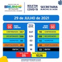 Covid-19 Boletim de 29.07.2021