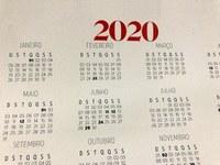 Feriados e pontos facultativos 2020