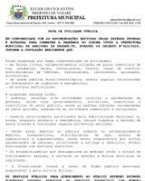 NOTA DE UTILIDADE PÚBLICA