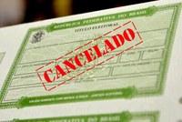 Títulos eleitorais cancelados