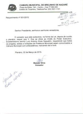 Requerimento 05/2015